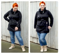 Big Lady COMET Hoodie Farbenmix Schnittmuster