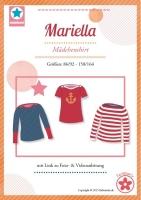 Mariella U-Boot Mädchenshirt Farbenmix Schnittmuster