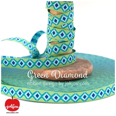 Farbenmix Webband Green Diamond