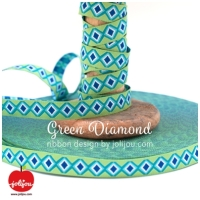 Farbenmix Webband Green Diamond