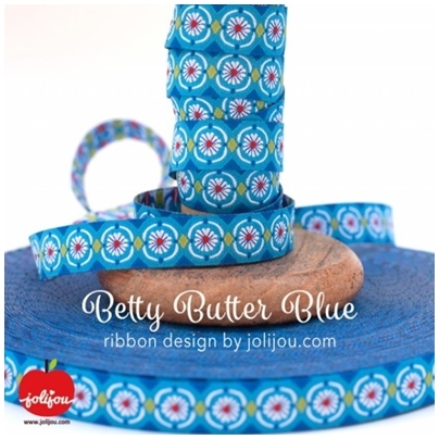 Farbenmix Webband Betty Butter Blue