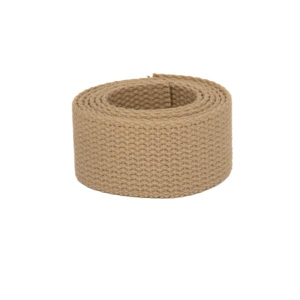 Baumwollgurtband, 25,4mm (1 inch), beige