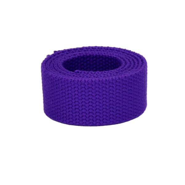Baumwollgurtband, 25,4mm (1 inch), violett