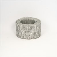 Polygurtband, 32mm (1,25 inch), glitter silber