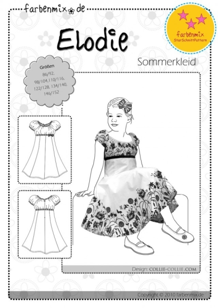 Elodie Festkleid Farbenmix Schnittmuster