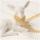 Mini Pompom-Borte, beige