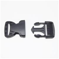 Steckverschluss, schwarz, für 32mm Band