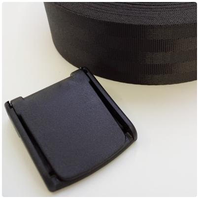 Klemmschnalle für Auto Gurtband, 40mm