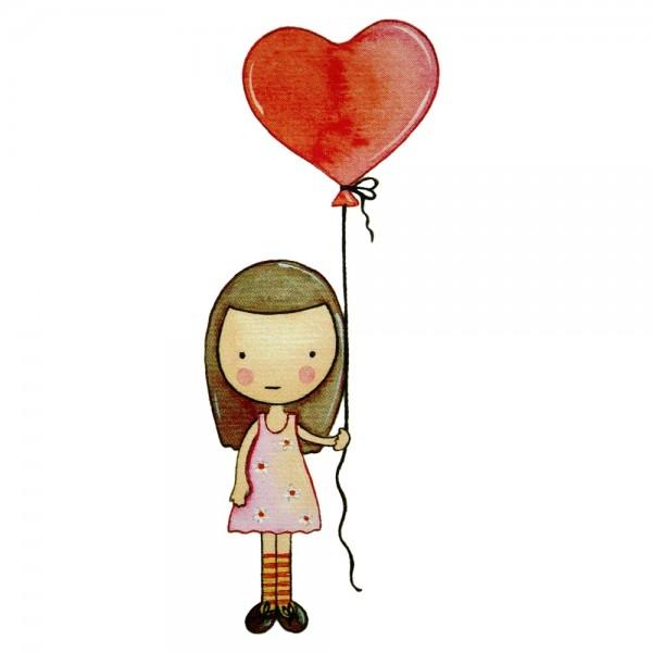 Safuri Bügelbild Mädchen mit Ballon