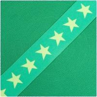 Gummiband mit Sternen 40mm Lime/Grasgrün
