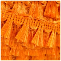 Zottelband, uni orange