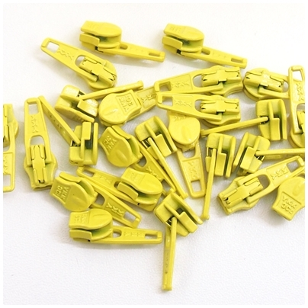 4mm Reissverschluss Schieber, gelb