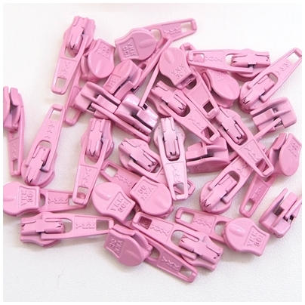 4mm Reissverschluss Schieber, rosa