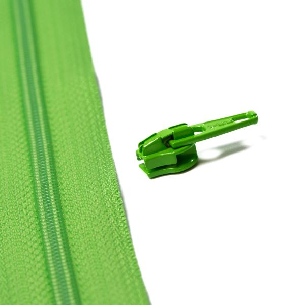 4mm Reissverschluss Schieber, grün