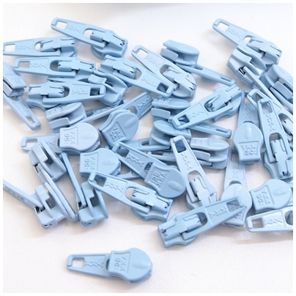4mm Reissverschluss Schieber, hellblau