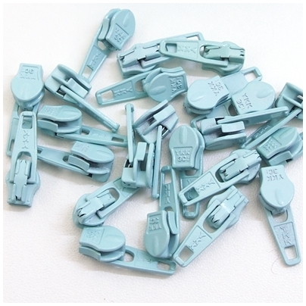 4mm Reissverschluss Schieber, eisblau