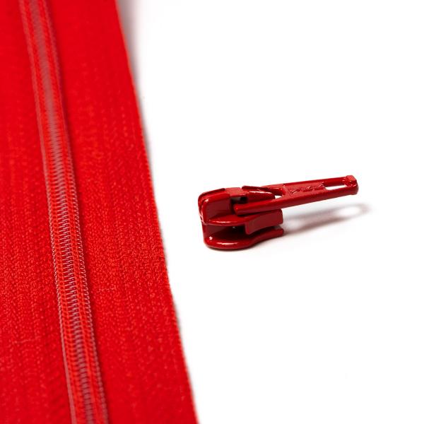 4mm Reissverschluss Schieber, rot