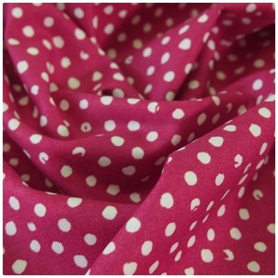 "Baumwolle ""Confetti Dot"", fuchsia"