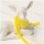 Mini Pompom-Borte, zitronengelb