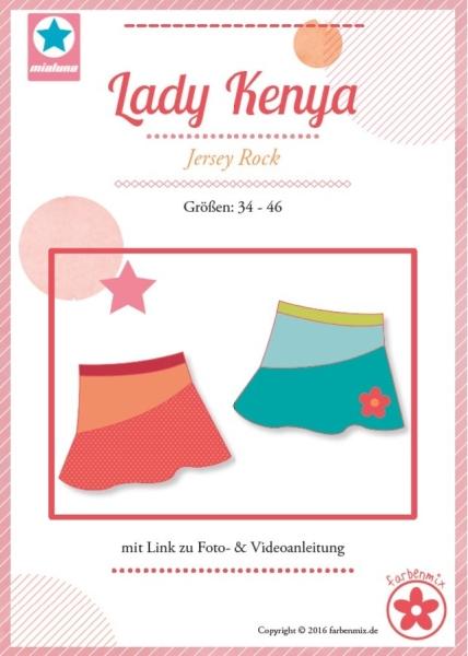 Lady Kenya Jerseyrock Farbenmix Schnittmuster