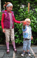 EDDIE Kinder Kapuzenweste Farbenmix Schnittmuster