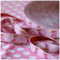 Farbenmix Webband Püppi rosa
