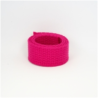 weiches Baumwollgurtband 2,54cm (1 inch), pink