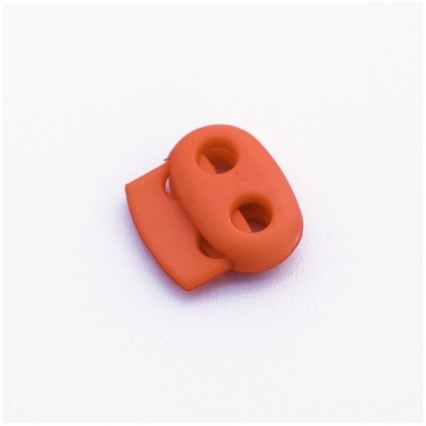 Kordelstopper mit 2 Löchern, orange