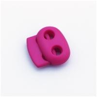 Kordelstopper mit 2 Löchern, pink