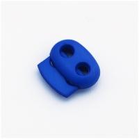 Kordelstopper mit 2 Löchern, blau