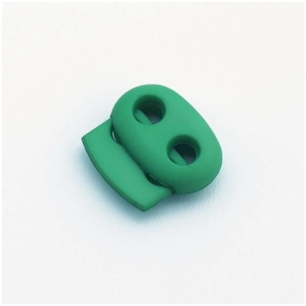 Kordelstopper mit 2 Löchern, grasgrün