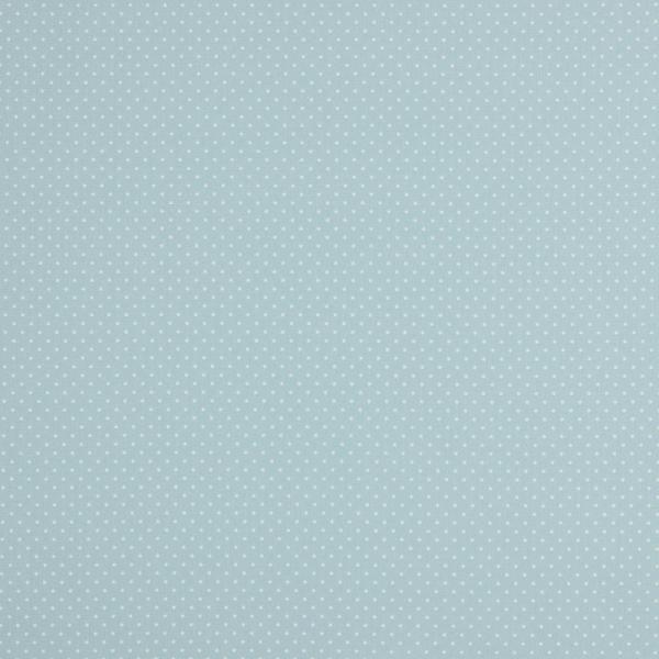 Baumwollpopeline Minipunkte hellblau
