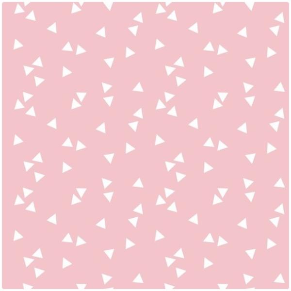 Baumwollpopeline Triangles rosa