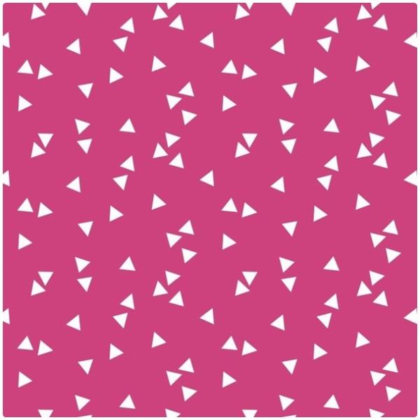 Baumwollpopeline Triangles pink