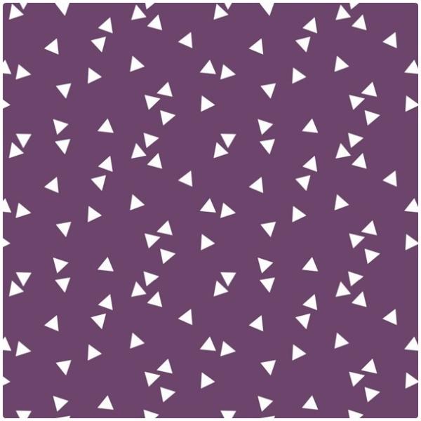 Baumwollpopeline Triangles lila