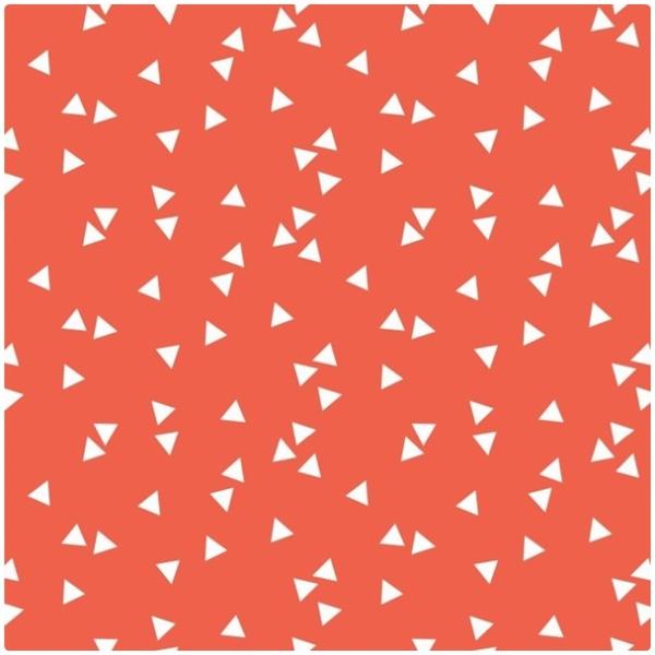 Baumwollpopeline Triangles orange