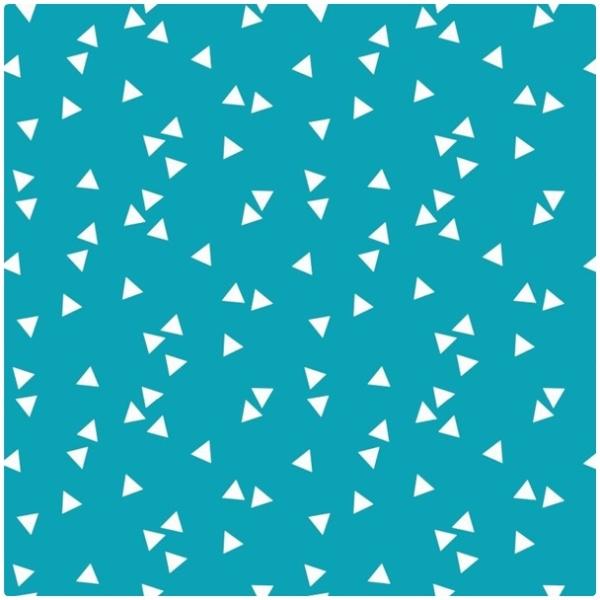 Baumwollpopeline Triangles türkis