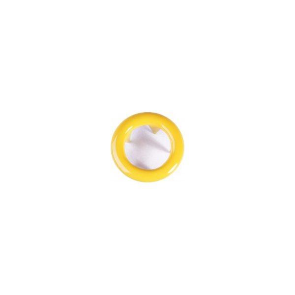 Jersey Druckknopf ring 20 Stk. gelb