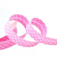 Schrägband, gepunktet rosa