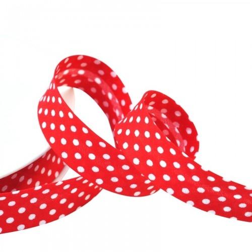Schrägband, gepunktet rot