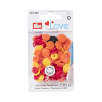 Prym Color Snaps Blume, gelb-orange-rot