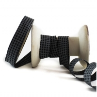 Farbenmix Webband MINI Staaars schwarz-grau