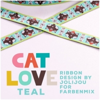 Webband Cat Love Teal
