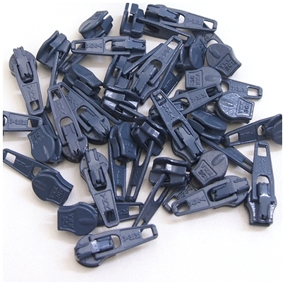 6mm Reissverschluss Schieber, dunkelgrau