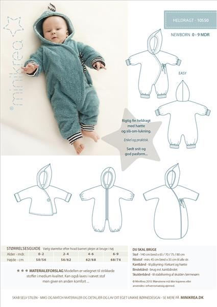 Baby Overall Minikrea Schnittmuster