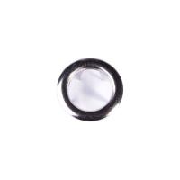 Jersey Druckknopf ring 20 Stk. silber
