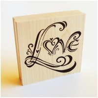Zenspirations Holzstempel - Love