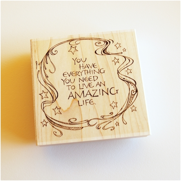 Zenspirations Holzstempel - You have everything