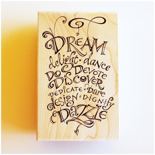 Zenspirations Holzstempel - Dream Delight Dance