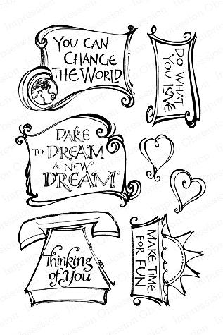 Clear Stamp Stempel - Framed Phrases